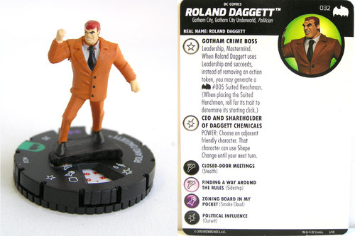Heroclix - #032 Roland Dagget - DC Batman the Animated Series