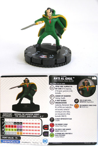 Heroclix - #034 Ra's Al Ghul - DC Batman the Animated Series