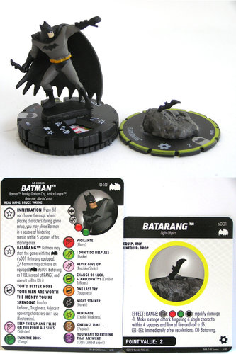 Heroclix - #040 Batman with #S001 Batarang - DC Batman the Animated Series
