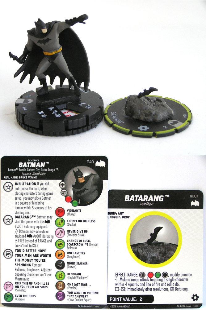 Batmobile #V001 Batman DC Heroclix NM HeroClix Batman
