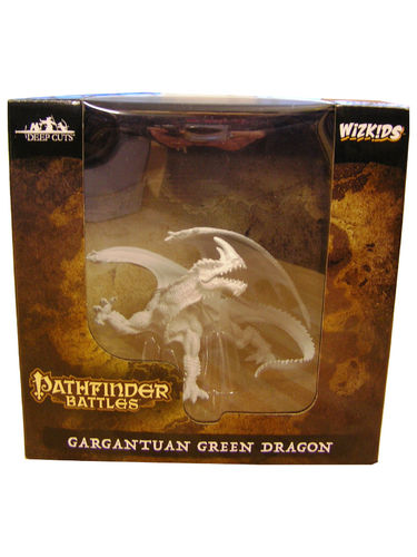 WZK73531 - Pathfinder Battles Deep Cuts - Gargantuan Green Dragon Unpainted
