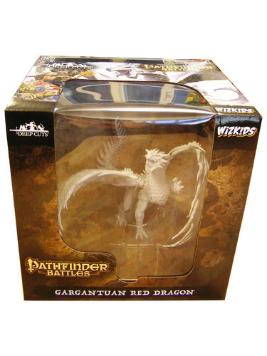 WZK73144 - Pathfinder Battles Deep Cuts - Gargantuan Red Dragon Unpainted