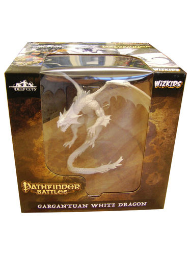 WZK73145 - Pathfinder Battles Deep Cuts - Gargantuan White Dragon Unpainted