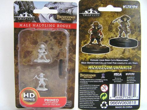WZK73407 - Pathfinder Deep Cuts Wave 6 - Unpainted Miniatures - Male Halfling Rogue