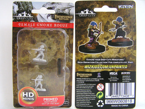 WZK73408 - Pathfinder Deep Cuts Wave 6 - Unpainted Miniatures - Female Gnome Rogue