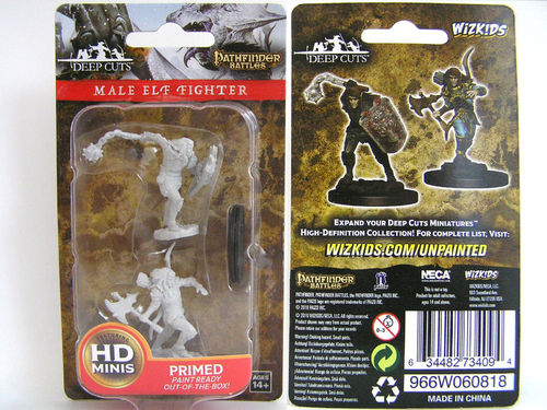 WZK73409 - Pathfinder Deep Cuts Wave 6 - Unpainted Miniatures - Male Elf Fighter