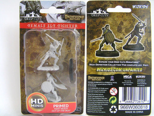 WZK73410 - Pathfinder Deep Cuts Wave 6 - Unpainted Miniatures - Female Elf Fighter