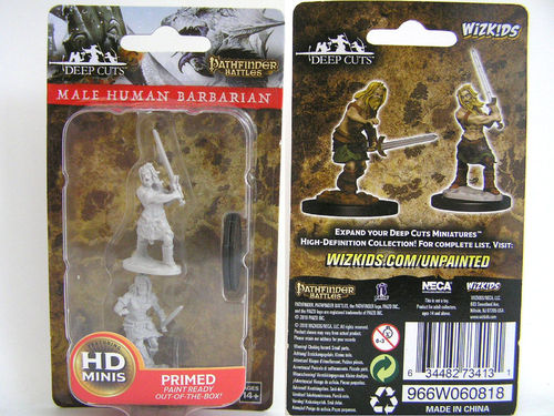 WZK73413 - Pathfinder Deep Cuts Wave 6 - Unpainted Miniatures - Male Human Barbarian