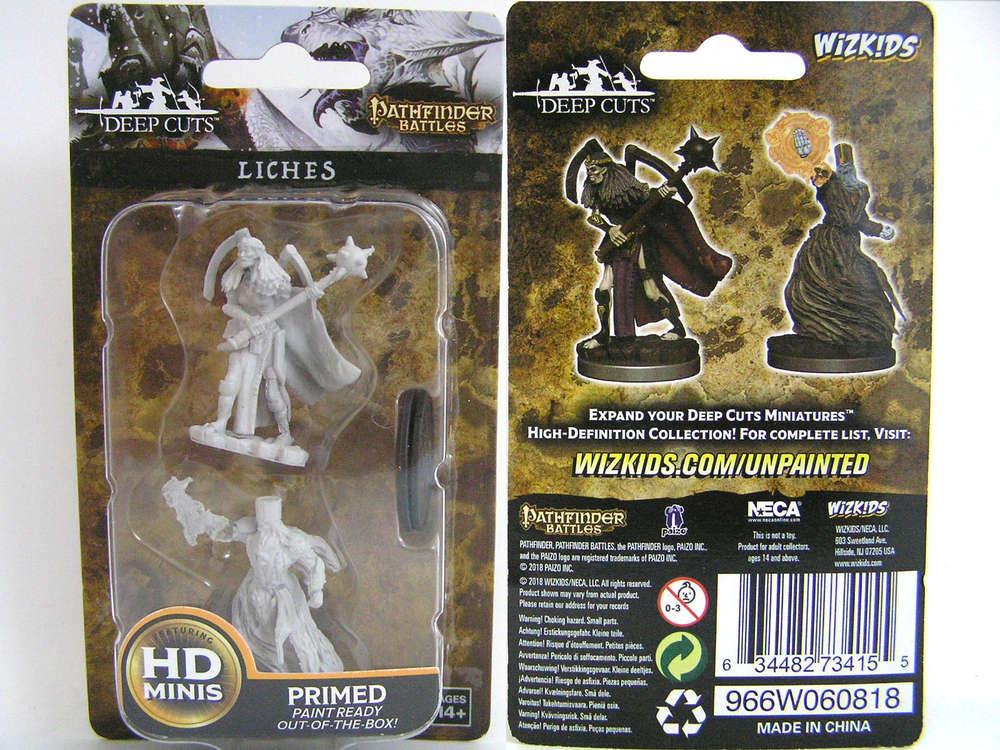 WZK73415 - Pathfinder Deep Cuts Wave 6 - Unpainted Miniatures - Liches