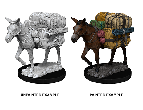 WZK73552 - Pathfinder Deep Cuts Wave 7 - Unpainted Miniatures - Pack Mule