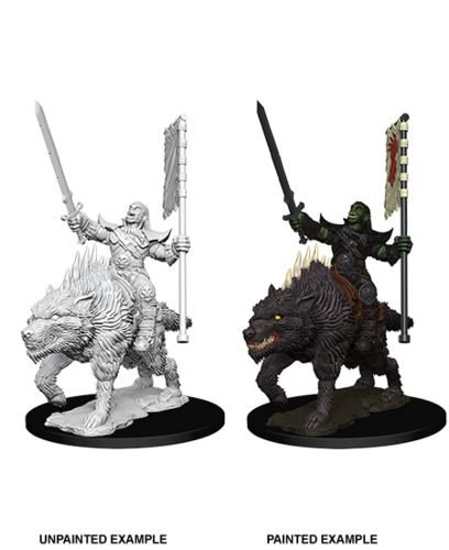 WZK73547 - Pathfinder Deep Cuts Wave 7 - Unpainted Miniatures - Orc on Dire Wolf