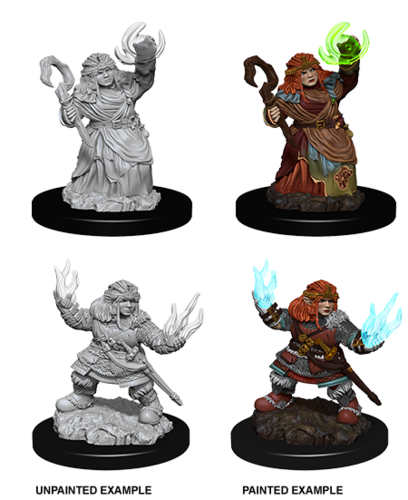 WZK73543 - Pathfinder Deep Cuts Wave 7 - Unpainted Miniatures - Female Dwarf Summoner