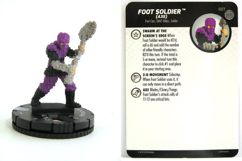 HeroClix - #007 Foot Soldier (Axe) - TMNT Unplugged