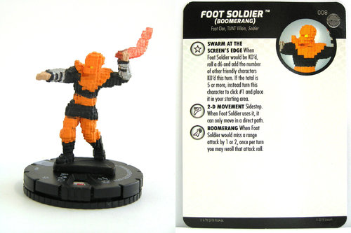 HeroClix - #008 Foot Soldier (Boomerang) - TMNT Unplugged