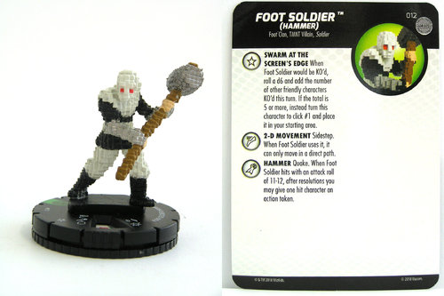 HeroClix - #012 Foot Soldier (Hammer) - TMNT Unplugged