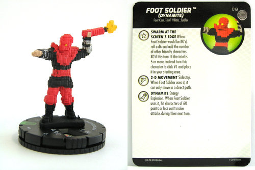 HeroClix - #013 Foot Soldier (Dynamite) - TMNT Unplugged