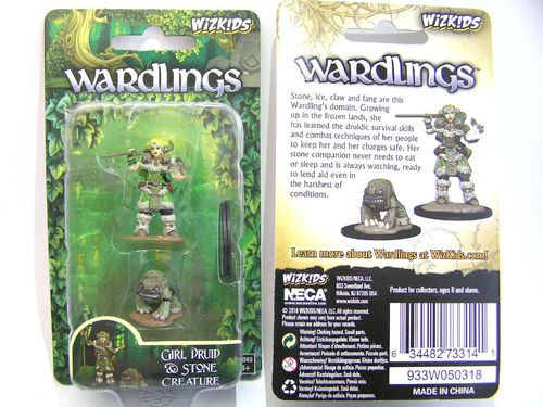WZK73314 - Wizkids Wardlings Wave 2 - Girl Druid & Stone Creature