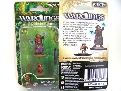 WZK73318 - Wizkids Wardlings Wave 2 - Boy Wizard & Imp