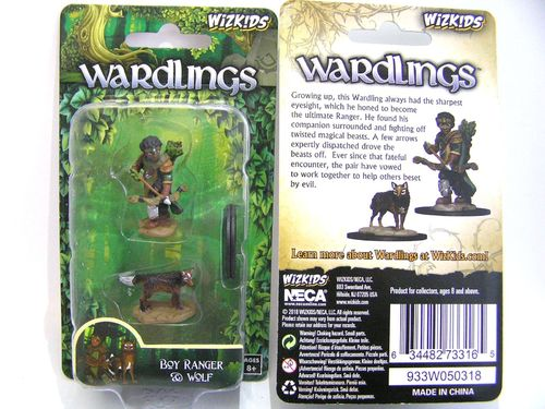 WZK73316 - Wizkids Wardlings Wave 2 - Boy Ranger & Wolf