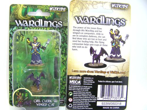 WZK73313 - Wizkids Wardlings Wave 2 - Girl Cleric & Winged Cat