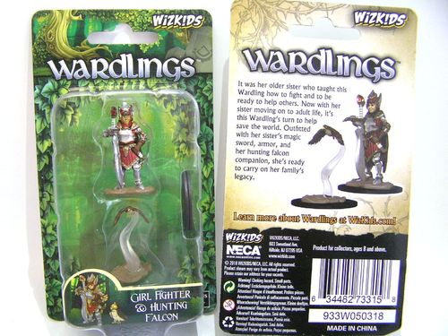 WZK73315 - Wizkids Wardlings Wave 2 - Girl Fighter & Hunting Falcon