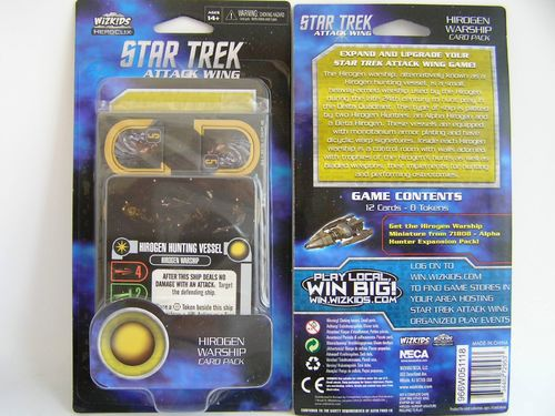 WZK72953 - Star Trek Attack Wing Hirogen Warship Card Pack Wave 4