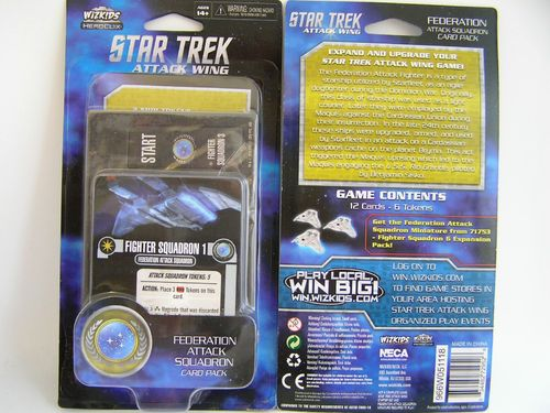 WZK72952 - Star Trek Attack Wing Federation Attack Card Pack Wave 4