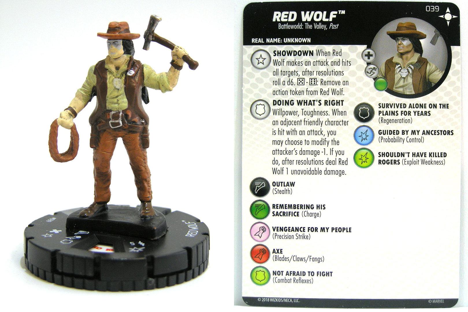Heroclix Secret Wars Battleworld # 039 Red Wolf