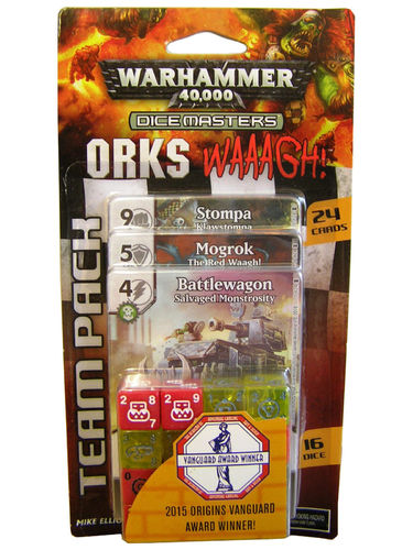 Dice Masters Warhammer 40,000 Orks Waagh! Team Pack