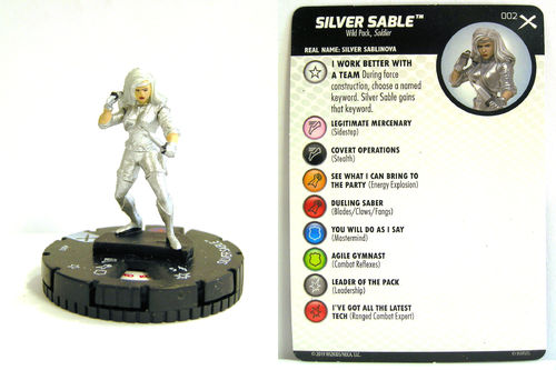 Heroclix - #002 Silver Sable - Earth X