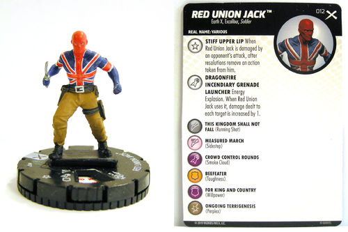 Heroclix - #012 Red Union Jack - Earth X