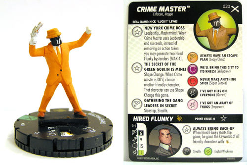 Heroclix - #020 Crime Master - Earth X