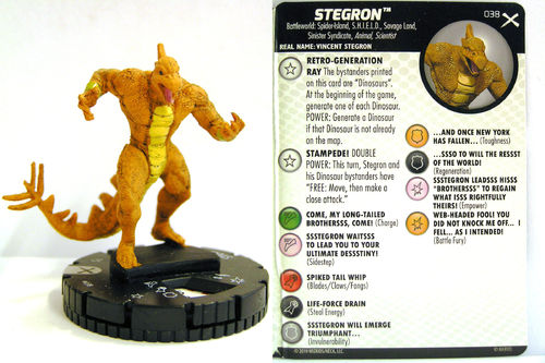Heroclix - #038 Stegron- Earth X