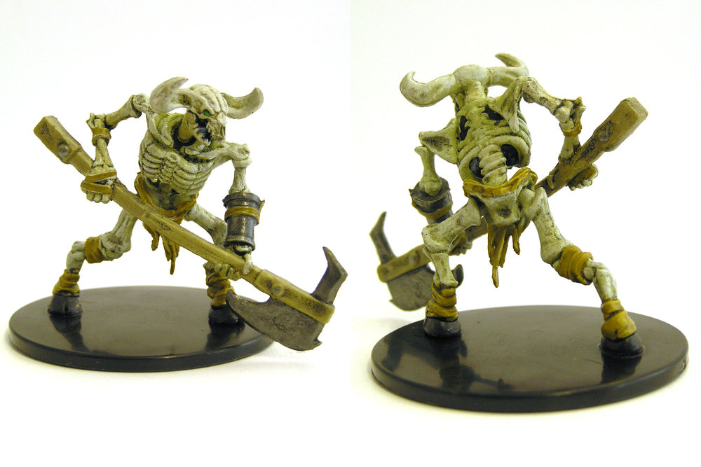 #032a Minotaur Skeleton Axe D/&D Icons of the Realms Dungeon of the Mad Mage