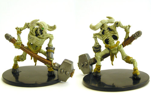 D&D - #032b Minotaur Skeleton (Warhammer) Large Figure - Waterdeep Dungeon of the Mad Mage