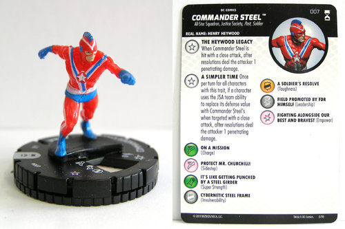 HeroClix - #007 Commander Steel - DC Rebirth