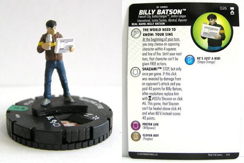 HeroClix - #026 Billy Batson - DC Rebirth