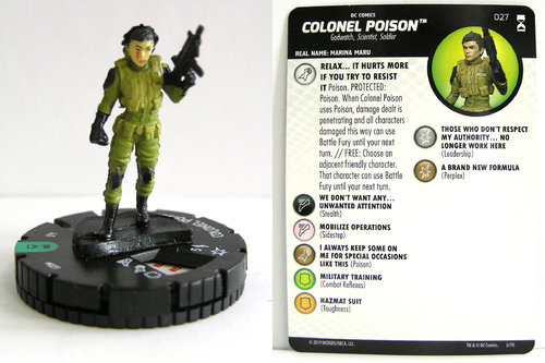 HeroClix - #027 Colonel Poison - DC Rebirth