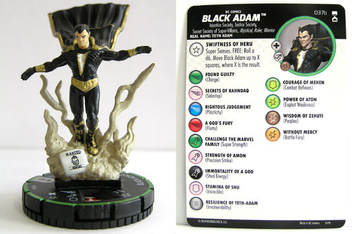 HeroClix - #037b Black Adam - DC Rebirth