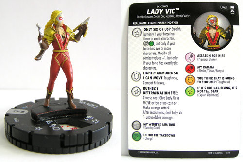 HeroClix - #043 Lady Vic - DC Rebirth