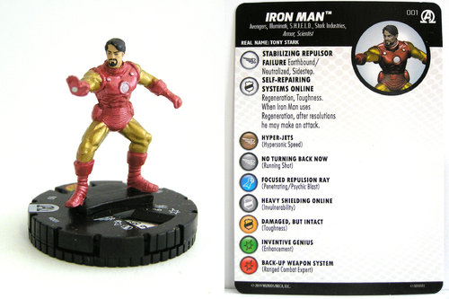 HeroClix - #001 Iron Man - Black Panther and the Illuminati