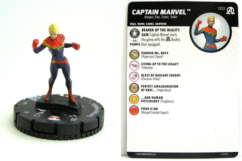 HeroClix - #002 Captain Marvel - Black Panther and the Illuminati