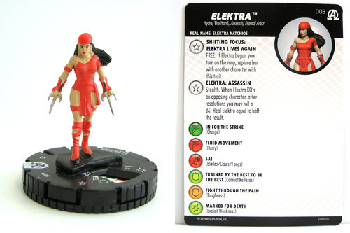 HeroClix - #003 Elektra - Black Panther and the Illuminati