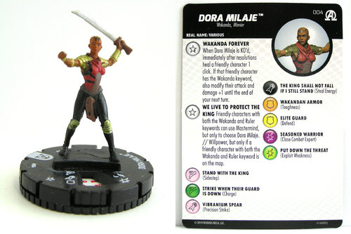 HeroClix - #004 Dora Milaje - Black Panther and the Illuminati