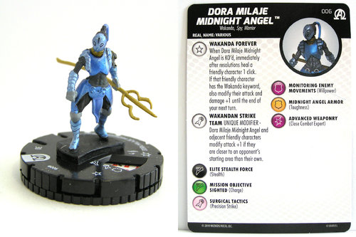 HeroClix - #006 Dora Milaje Midnight Angel - Black Panther and the Illuminati