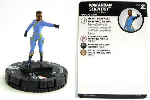 HeroClix - #007 Wakandan Scientist - Black Panther and the Illuminati