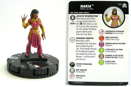 HeroClix - #008 Nakia - Black Panther and the Illuminati