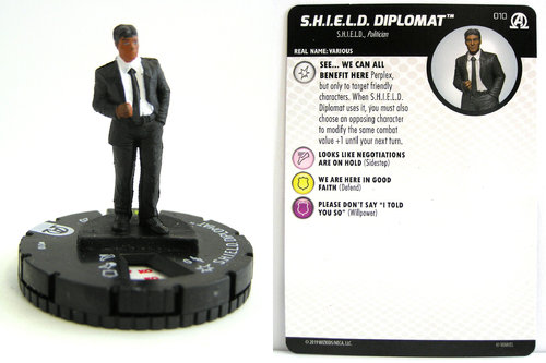 HeroClix - #010 S.H.I.E.L.D. Diplomat - Black Panther and the Illuminati