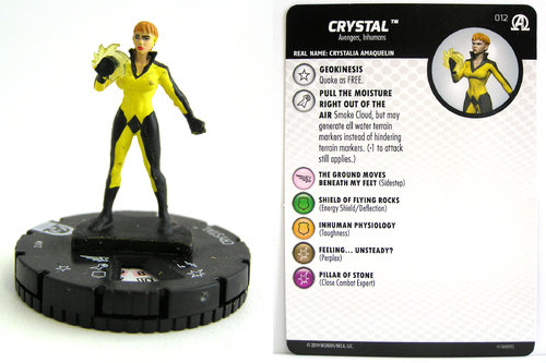 HeroClix - #012 Crystal - Black Panther and the Illuminati