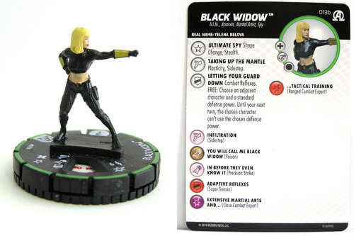 HeroClix - #013b Black Widow - Black Panther and the Illuminati